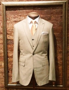 Linen Wool Suit at Nicholas Joseph Custom Tailor